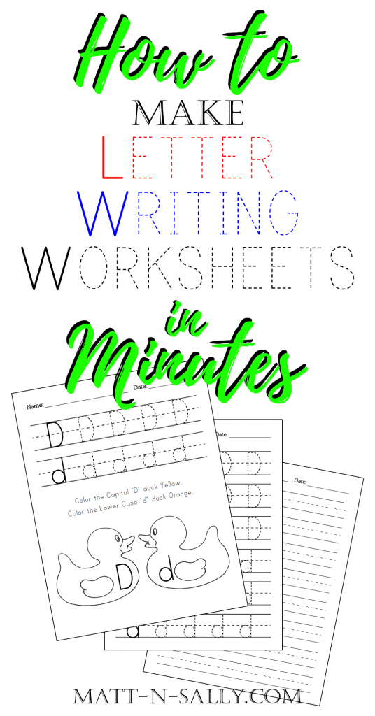 Letter Writing Worksheets: Line Up Ducks With Worksheets At Alzheimers-prions.com